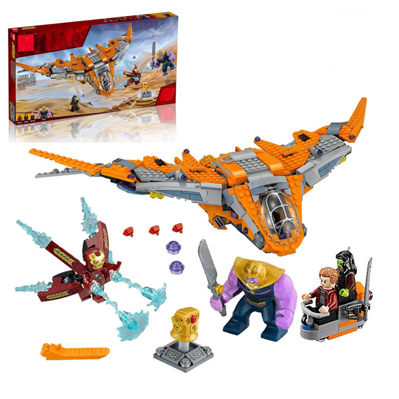 Legoings Marvel Avengers Super Heroes Infinity War Thanos Ultimate Battle Building Blocks Toys Children Compatible Legoing 76107 single sale chromed infinity gauntlet with 24pcs power stones vision super heroes building blocks children gift toys sy1099 2