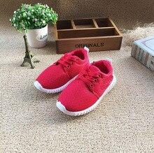 Enfants fille garçon casual chaussures doux botton avec Maille sport chaussures pour Enfant fille garçon chaussures taille 26-30 pour 3-six années TX07