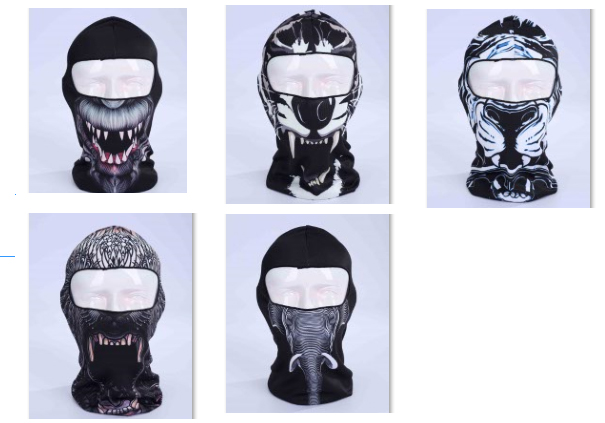2017 Women Men 3D Animal Print Cap Outdoor Sports Balaclava Bicycle  Motorcycle Hat Cosplay Full Face Ski Mask -in Skullies   Beanies from  Apparel ... a0f0561c325e