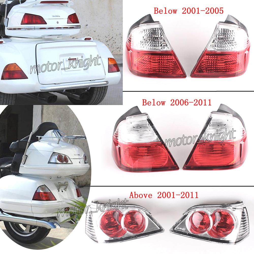 Upper & Lower LED Trunk Tail Light Saddlebag Lights For Honda Goldwing GL1800 2001 2002 2003 2004 2005 2006 2007 2008 2009 2010