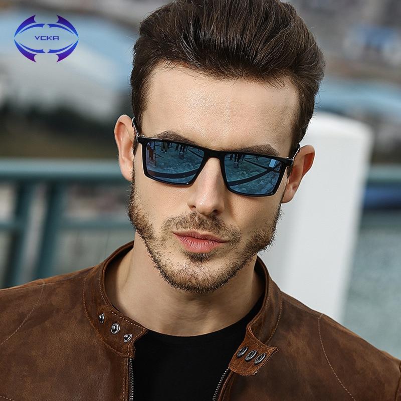 d31864df2a Gafas de sol polarizadas Ultra ligeras marca VCKA gafas de sol cuadradas  Vintage para hombre gafas de seguridad protectoras de conducción para  hombres ...