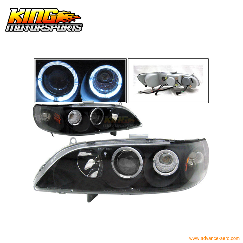For 1998-2002 Accord 1Pc Dual Halo Projector Headlights USA Domestic Free Shipping beibehang papel de parede 3d embossed velvet continental 3d wall paper wallpaper roll for living room wall covering decor