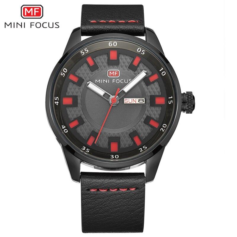 Для мужчин кварцевые часы мини фокус Элитный бренд военная кожаный ремешок Горячая наручные часы Для мужчин спортивные часы Relogio Masculino