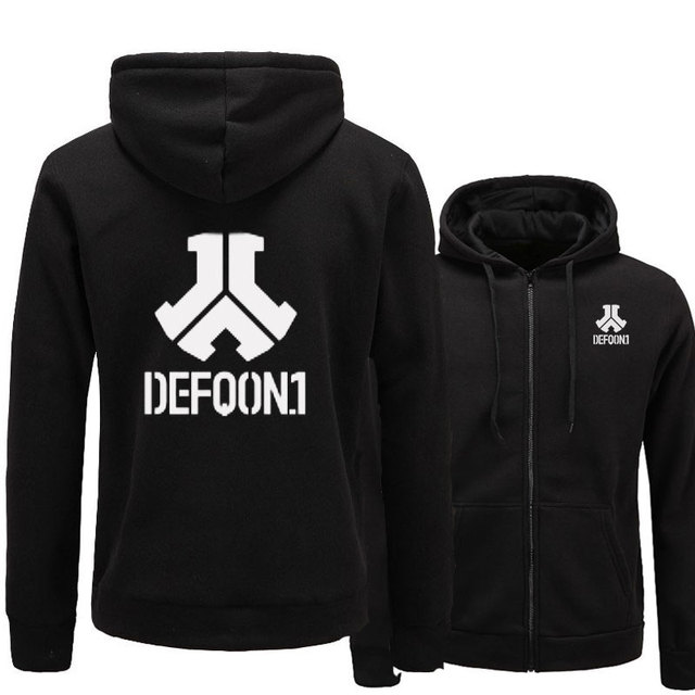 2017 New Defqon 1 Rock Band Hip Hop Men Hoodies Sweatshirts Winter Autumn Zipper Fleece Casual Jackets Hoodie male clothing