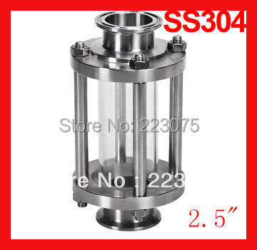 2.5 Sanitary clamp sight glass, Stainless steel straight sight glass , Tri-clamp end flow tube megairon tri clover sanitary spool tube with 51 64mm ferrule clamp ss316 4 6 8 12 18 24 length tube thickness 1 5mm