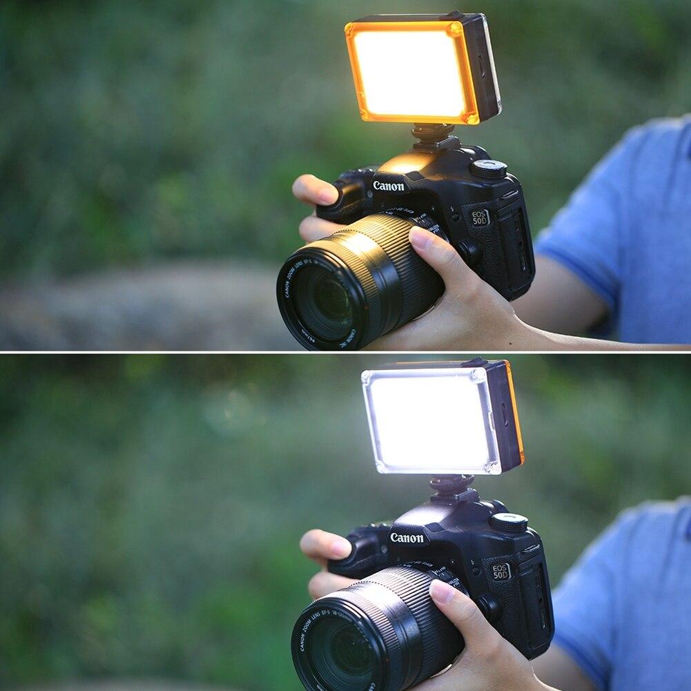 Nueva Dimmable 96 LED foto Video lámpara de luz de relleno para Canon Nikon Sony DSLR SLR cámara DV videocámara fotografía de la boda iluminación