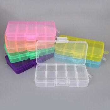 10 слотов пластиковая коробка для хранения ювелирных изделий отсек Регулируемый контейнер для бусин коробка для сережек для ювелирных изде...