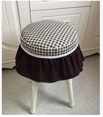 Cotton linen plaid padded cotton seat cushion chair pad seat mat stool cushion home decor