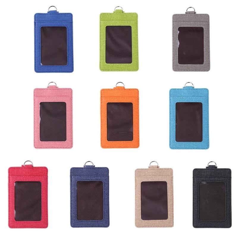 1 Pc Mode Unisex Id Fenster Karte Halter Büro Bus Karten Fall Abzeichen Zubehör Eine GroßE Auswahl An Farben Und Designs