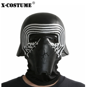 X-COSTUME Star Wars 7 The Force Awakens Kylo Ren Helmet Cosplay Props Cool PVC Full Head Helmet Black Mask Halloween Accessories