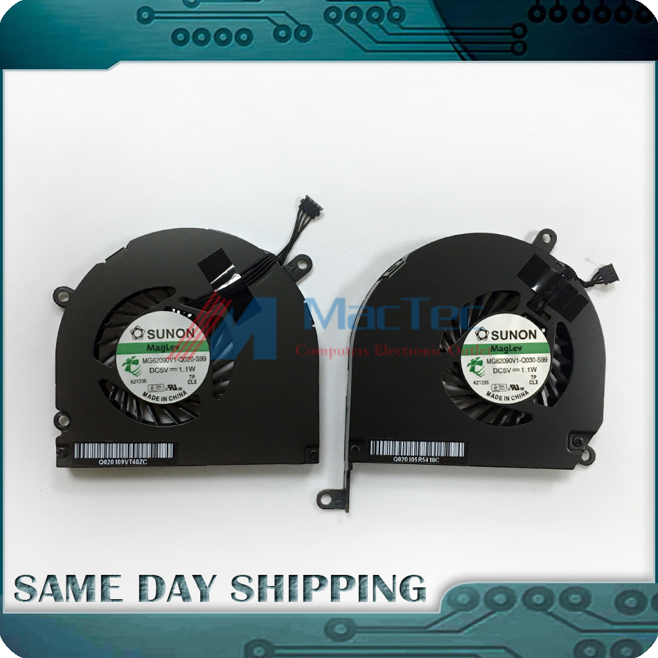 Genuine New Cooler FAN Set for Apple Macbook Pro 15 A1286 Left+Right Side CPU Cooling Fan 2008 2009 2010 2011 2012 Year
