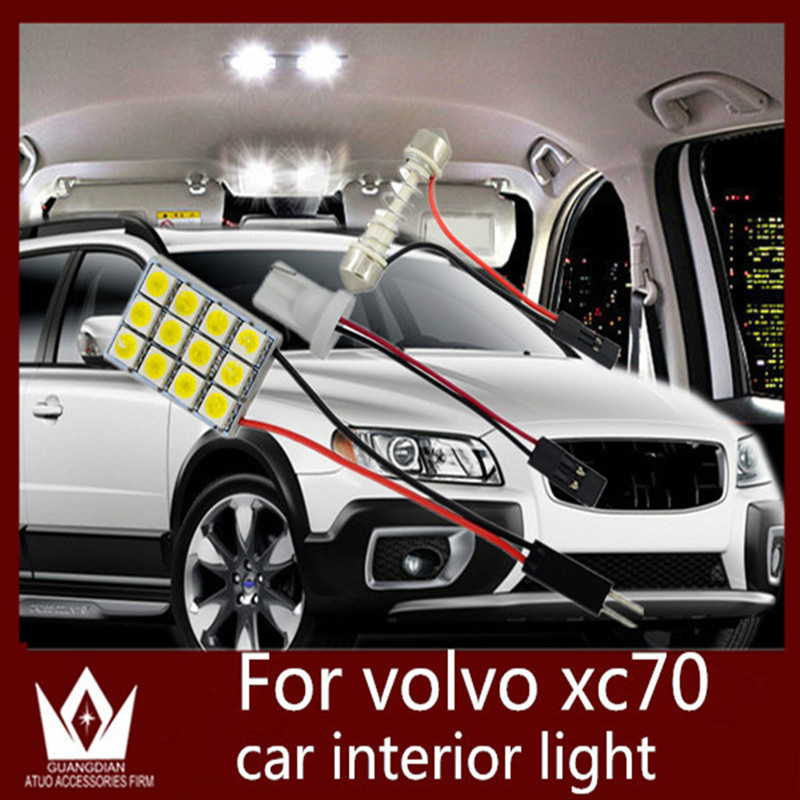 Tcart Auto LED Bulbs Car Interior Lighting Roof Dome Panel Led Lamp Read door Light Luggage T10 Festoon For Volvo XC70 2004-2014 car led spotlight cree automotive short animated film spotlights roof lighting roof lamp dc10 40v