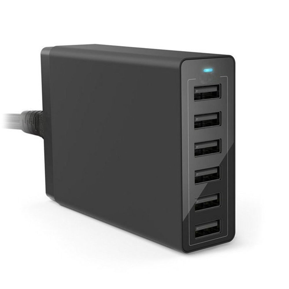 Pintaik 6 Ports Intelligent AC USB Charger 50W 10A Wall Charger For Cellphone Tablet Travel Multi port Home USB Charger
