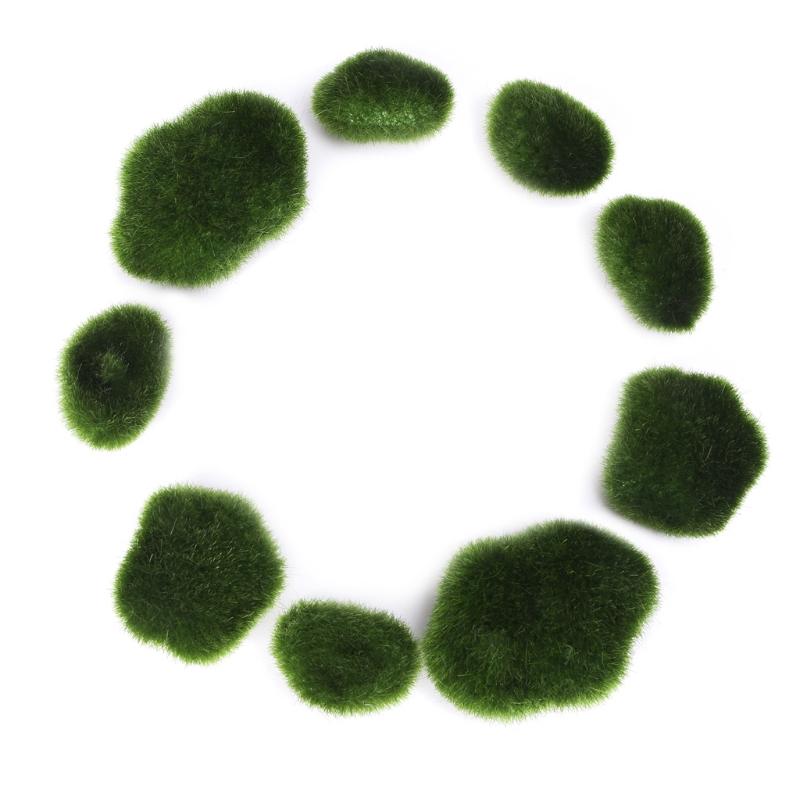 unids bolas de musgo piedra decorativa simulacin artificial planta de jardn jarrn fillerchina