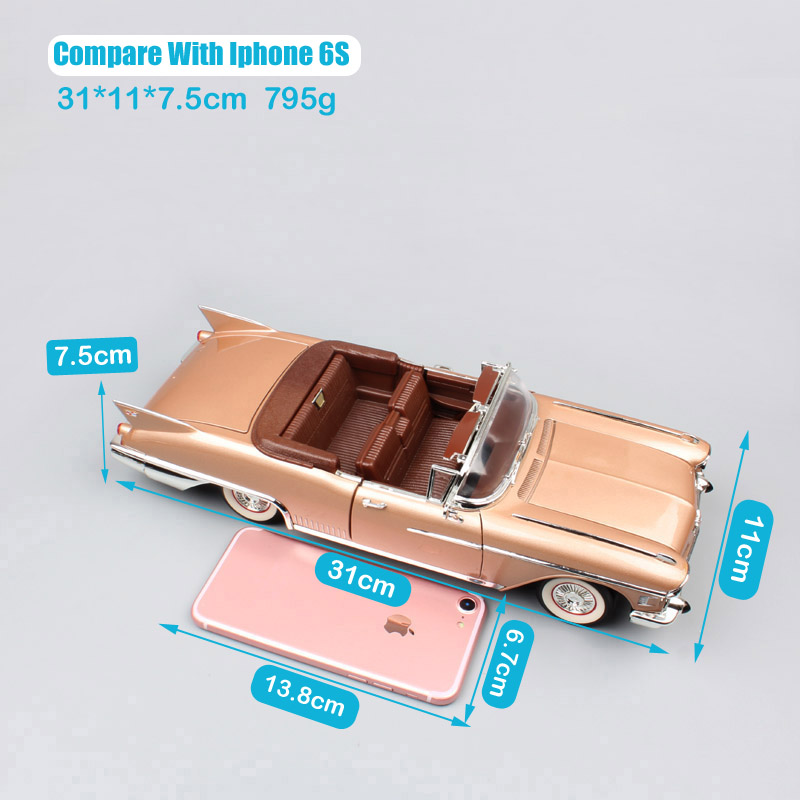 Children 1 18 Scale luxury Vintage GM 1958 Cadillac Eldorado Fleetwood Biarrotz convertible Diecasts Vehicles Cars toys models in Diecasts Toy Vehicles from Toys Hobbies
