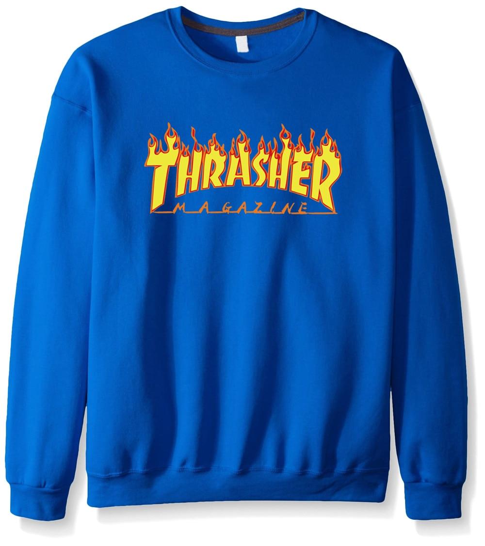2017 новый осень зима смешные толстовки sweatshit harajuku моды трэшер футболка хип-хоп флис бренд громила мужчины кофты