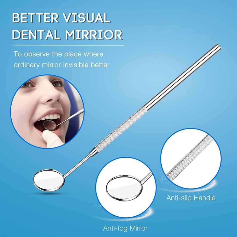 Vaclav dental espelho de aço inoxidável ferramentas dentárias boca espelho dental kit de higiene dental instrumento picareta dental dentista preparado ferramentas