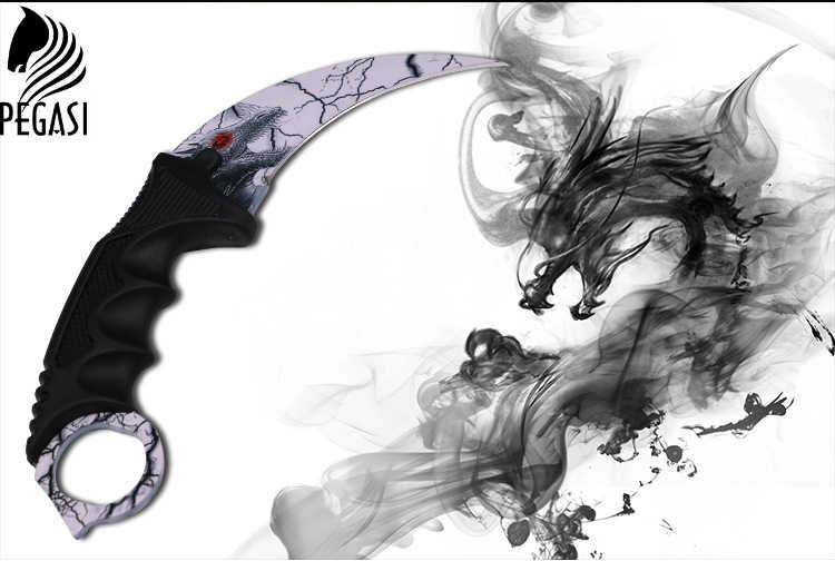 Горячее предложение! Распродажа! CS GO охотничий нож с фиксированным клинком Karambit тактический боевой выживания шеи коготь ножи утилита Кемпинг Открытый Карманный спасательный EDC тоже
