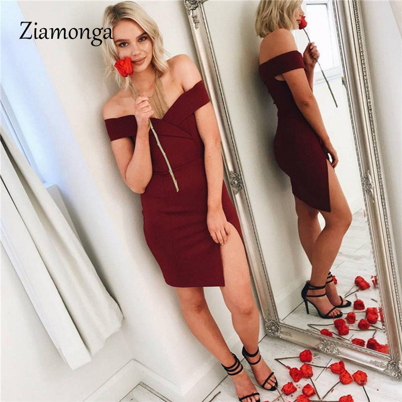 HTB16NvaXnZRMeJjSsppq6xrEpXaL - Ziamonga Women Autumn Dress Winter Black Red Off Shoulder Backless Tunic Party Dress Sexy Robe Femme Bodycon Bandage Dress