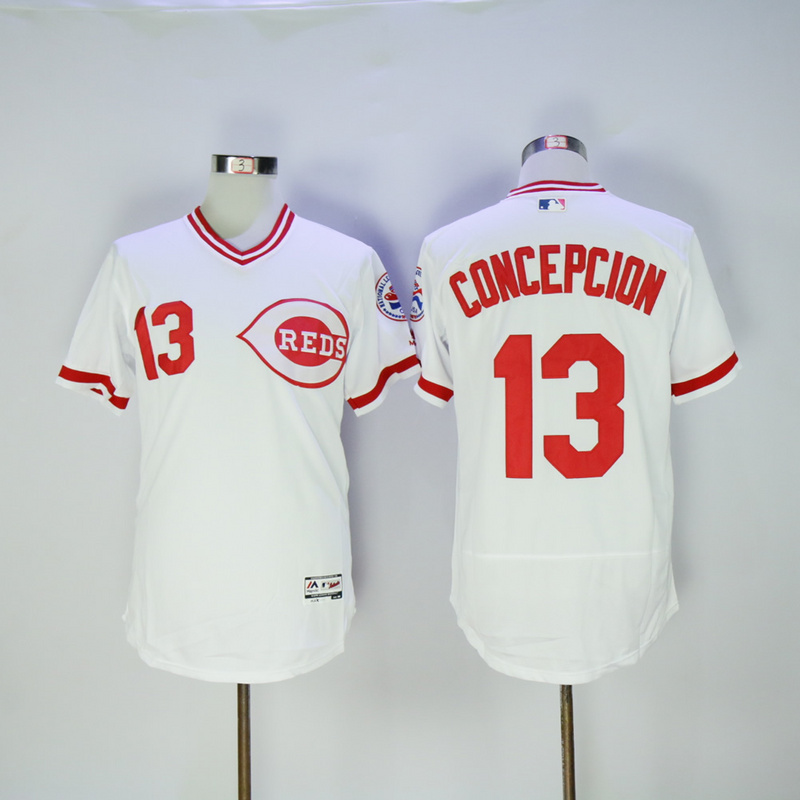 Mens Cincinnati Reds Dave Concepcion Flexbase Fully Stitched Baseball Jersey
