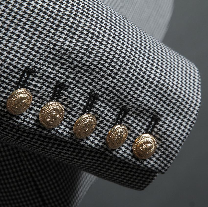 2018 frühling Neue mode Koreanische Dünne metall tasten plaid blazer anzug frauen einfache und stilvolle zweireiher Blazer Anzüge wj1920 - 4