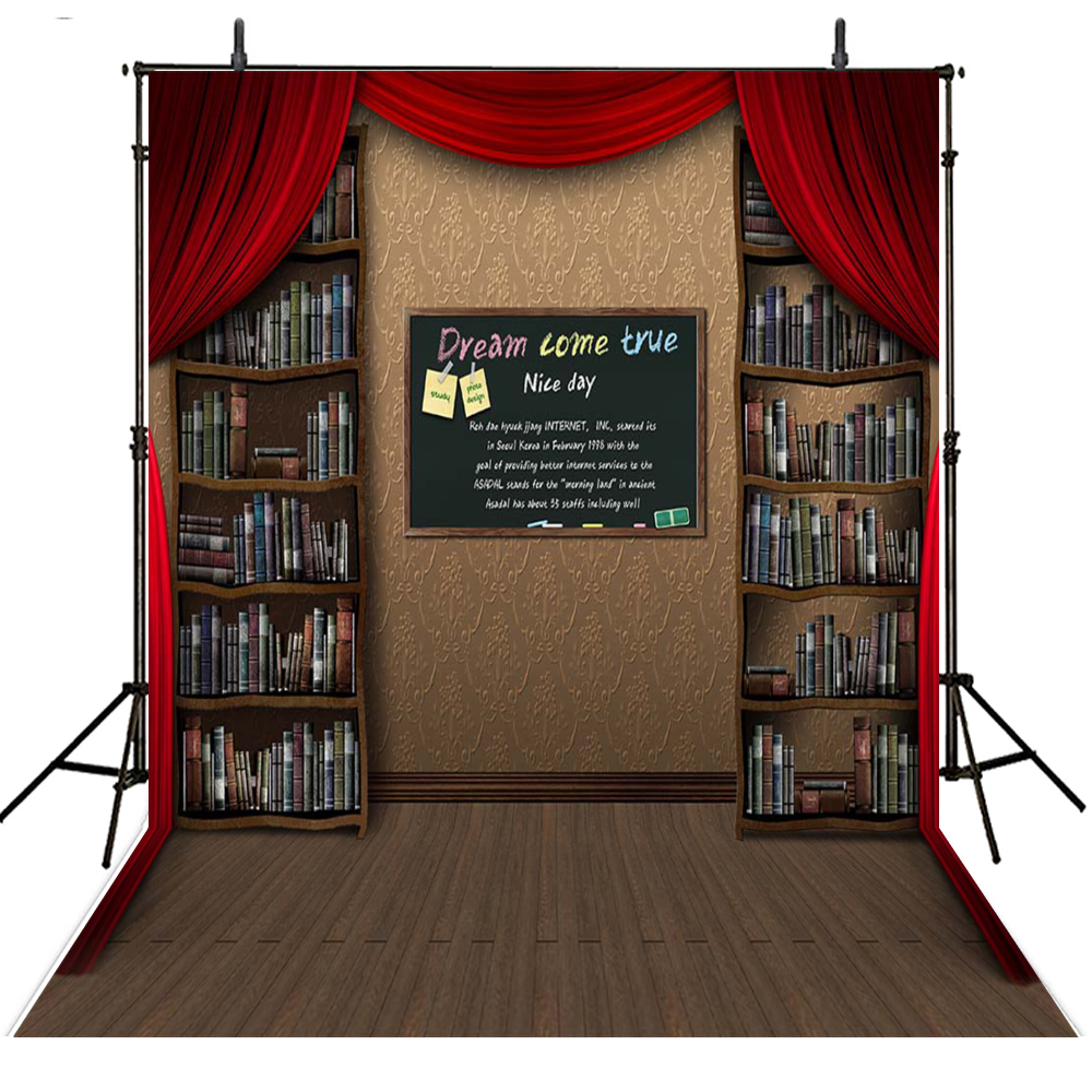 Books Photography Backdrops Kids Vinyl Backdrop For Photography School Background For Photo Studio Foto Achtergrond kate 7x5ft photography backdrops floors bookshelf books retro back to school photo background photocall for kids fond studio