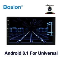 car multimedia player 2din android 7/8 car radio for universal nissan car gps navigation player BT FM AM RDS wifi 4G free camera