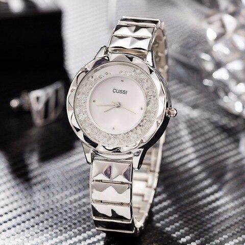 Relógios para Mulheres de Luxo Relógios de Pulso de Quartzo Relógios para Mulheres Relógio de Prata Moda Pulseira Vestido Relógios Relógio Feminino 2020