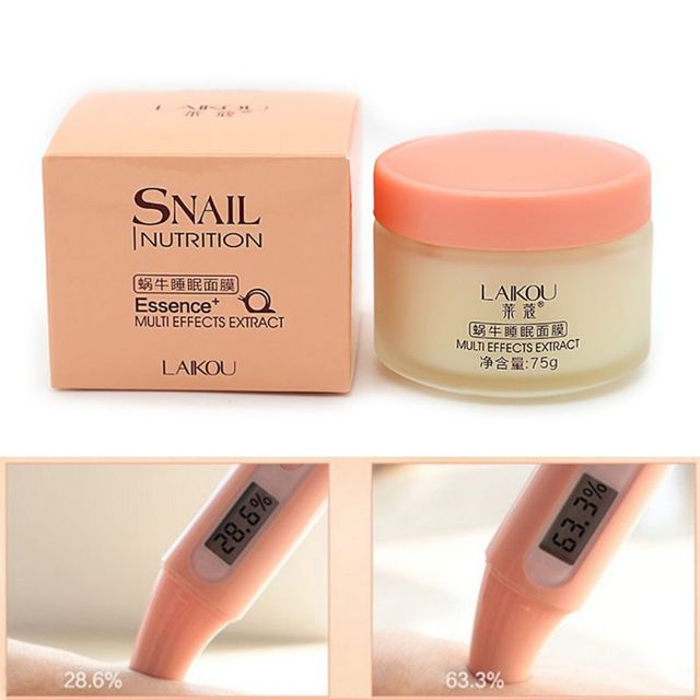 Useful Women Snail Sleeping Mask Essence Moisturizing Night Cream Anti Aging Wrinkle Cream 75g 4
