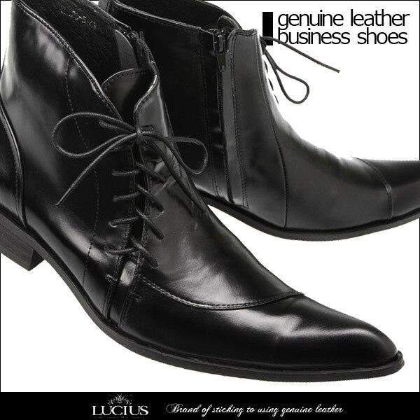 Tornozelo Britânico Derby Sapatos Vestido Amarrado Botas Lado Couro Estilo Show As Genuíno Preto Zip Cruz Apontou Masculinos Toe De Alta Cavalheiro Homem SdnpTaq