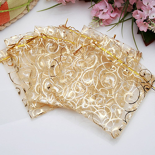25pcs 11cm*9cm Organza Bags Wedding Christmas Gift Bags Jewelry Packaging Bags & Pouches Small Organizer Bag Favor Drop Shipping