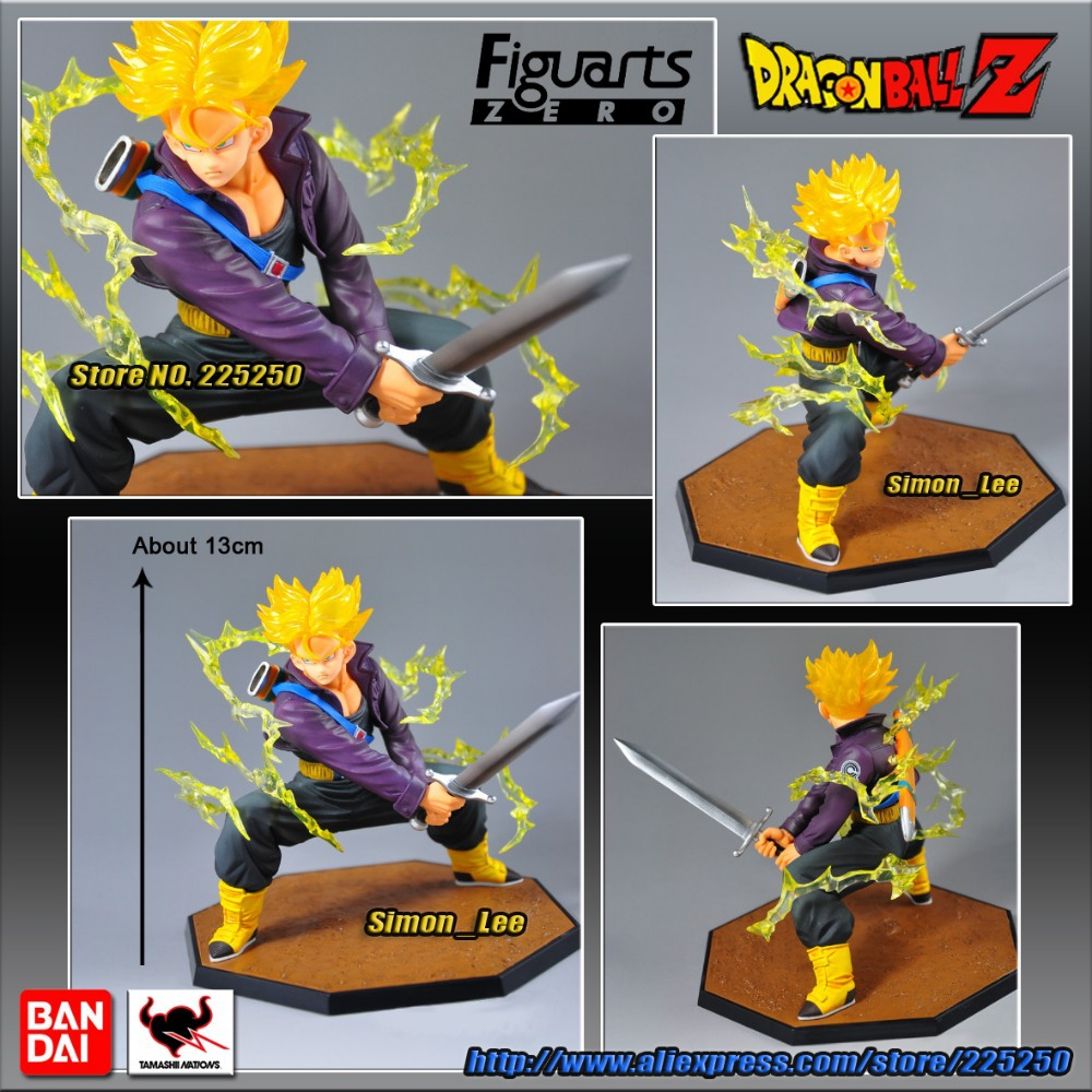 купить Dragon Ball Z/Kai (100% Original BANDAI Version) Tamashii Nations Figuarts Zero Toys Figures - Super Saiyan Trunks по цене 4440.84 рублей