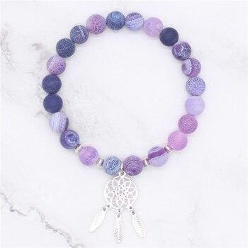 Bracelet attrape rêve en pierres naturelles 4