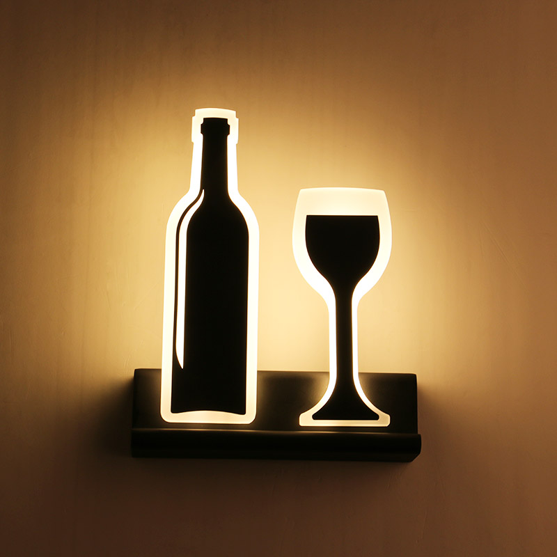 Modern led wall lamps glass lampshade for living room