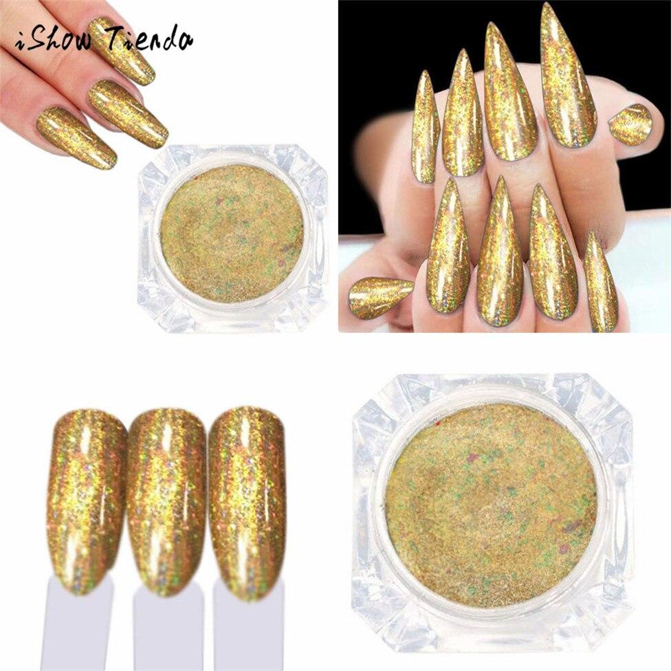 ISHOWTIENDA 2017 ногтей Блеск зеркало лак для ногтей позолота вставить металла Цвет гель Нержавеющаясталь DIY Nail Книги по искусству дропшиппинг
