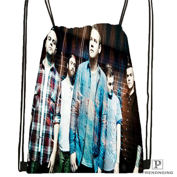 Custom bring me the horizon Drawstring Backpack Bag Cute Daypack Kids Satchel Black Back 31x40cm 180611