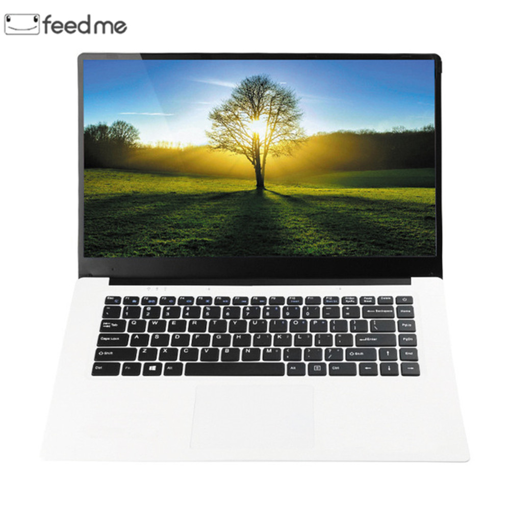 Feed Me 15.6 Inch Laptops Intel Z8350 Quad Core 4GB RAM 64GB ROM 1920X1080 Lapbook  Windows 10 2MP Camera For Office Gaming
