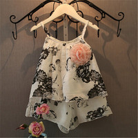 Girl Dress Nova Brand Lace Cotton Girl New Fashion Summer Baby Girl Clothes White Print Dress