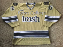 e340647c7 90s Sewn NOTRE DAME Fighting Irish Starter Hockey Jersey Embroidery  Stitched Customize any number and name