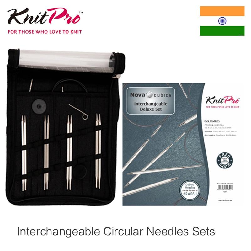 Knitpro Nova Cubics Interchangeable Aiguille Circulaire Ensemble