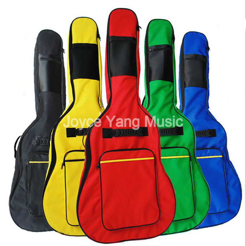5 Colors 40 41 Acoustic Guitar Bag Double Straps Padded Guitar Soft Case Gig Bag Free Shipping Wholesales 40 41 soft acoustic guitar bass case bag cc apb bag acoustic guitar padded gig bag with double padded straps and backpack