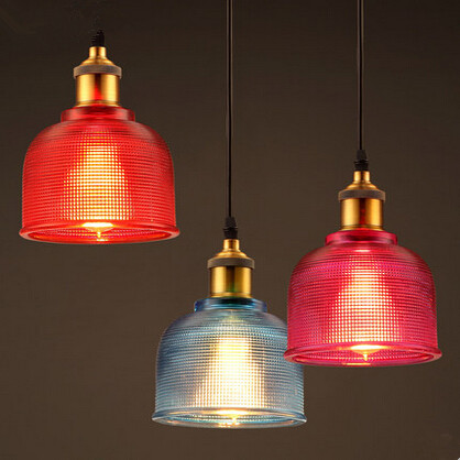 Colorful Vintage Loft Edison Pendant Lights Glass Lampshade Hanging Lamp Fixtures For Home Lighting Bar Lamparas Colgantes loft industrial rust ceramics hanging lamp vintage pendant lamp cafe bar edison retro iron lighting