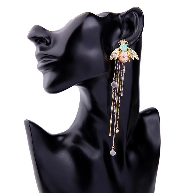 Stud earrings female fashion personality joker adorn article Ms bee long tassels pendant accessories earrings for women