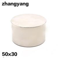 1pcs Strong Round Dia 50mm X 30mm N35 Rare Earth Neodymium Magnet Art Craft Fridge Free