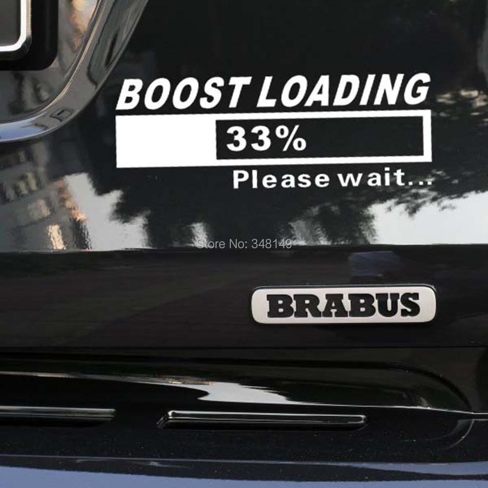 Car sticker design maker - Newest Design Funny Car Stickers Decal Turbo Charger Boost Loading For Tesla Volkswagen Golf 7 Ford