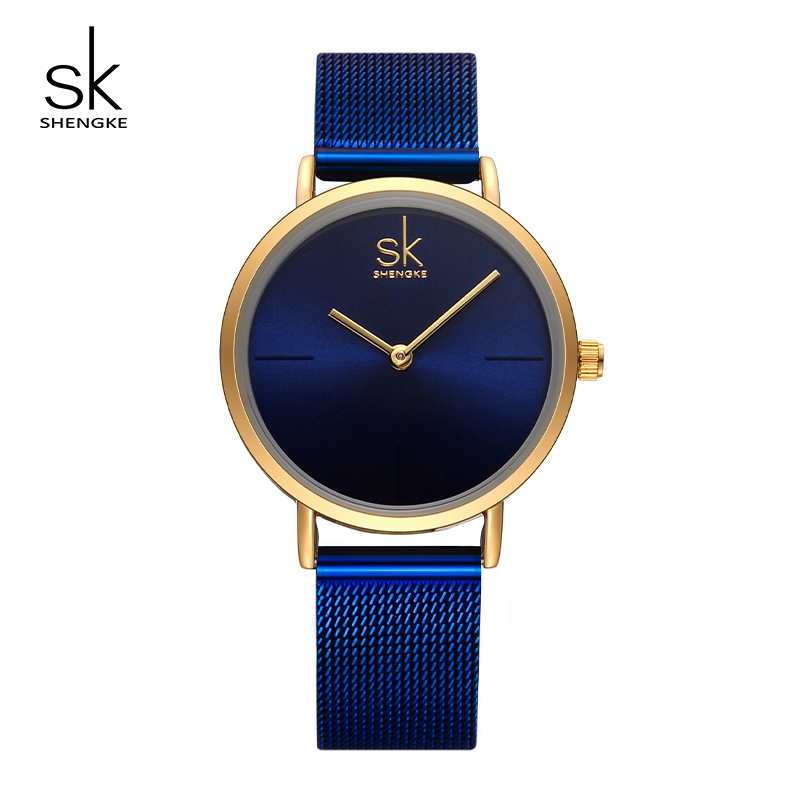 Sk Watches Women 2017 Fashion Blue Stainless Steel Mesh. Gold Oval Bangle Bracelet. Luxury Bracelet. Dessert Diamond. Safe Bands. Thread Necklace. Geometric Engagement Rings. Red Emerald. Cable Chains