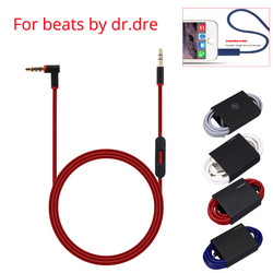 3.5mm Replacement Audio Cable Cord Wire w/Mic for Beats by Dr Dre Headphones Solo Studio Pro Detox Headset Earphone