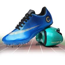 Track and Field Spike Shoes Men Women Student Training Athletic Shoes Professional Running Track Race Jumping Men Shoes Sneakers(China)
