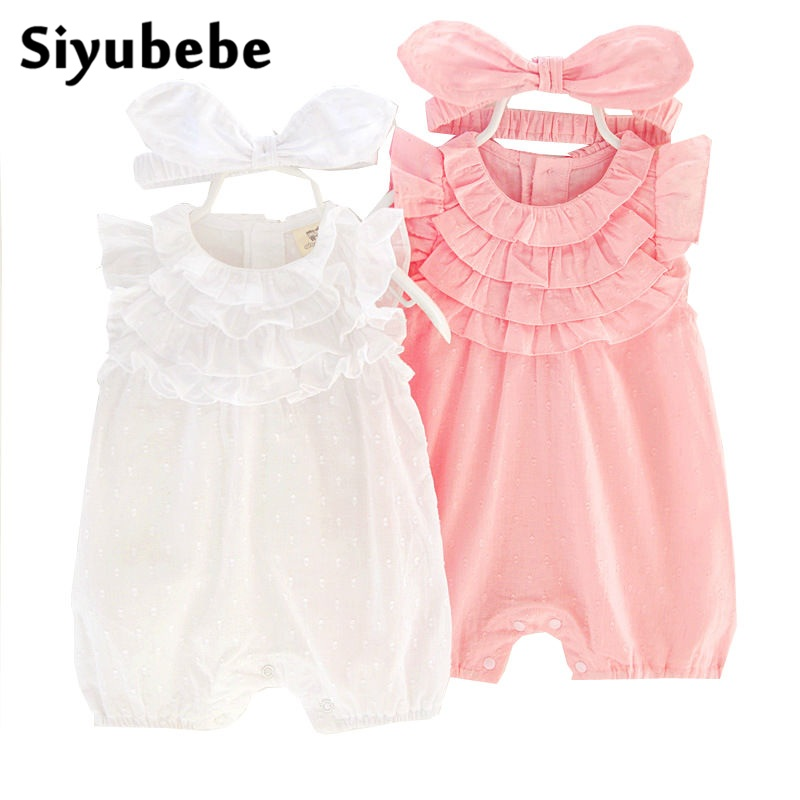 Summer Baby Rompers Set Fashion Brand Cotton Sleeveless Ropa Bebe Infant Girl Jumpsuit Kids Clothing Newborn Baby Girls Clothing 2016 bebe rompers ropa pink minnie hoodies newborn long romper baby girl clothing roupa infantil jumpsuit recem nascido