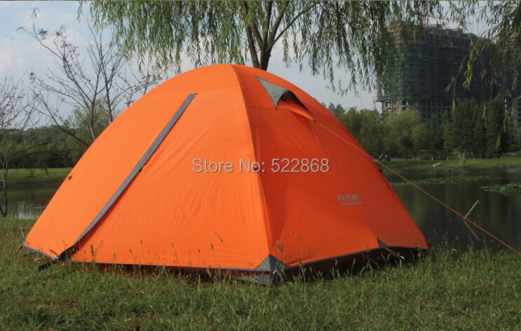 2014 New style good quality Flytop double layer 3 person aluminum rod outdoor camping tent